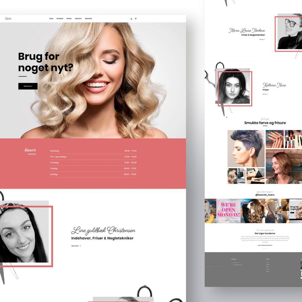 salon26 website hjemmeside grafisk arbejde grafik