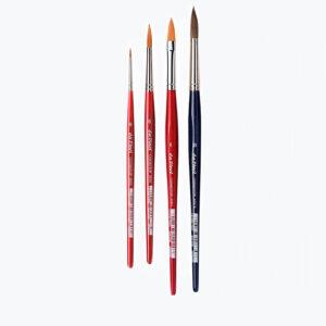 COSMOTOP akvarel penselsæt. 4 akvarel pensler, der er perfekt til at male alle salgs akvarel malerier.
