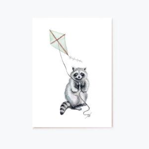 vaskebjorn-web postkort eller fødselsdagskort til barnedåben eller fødselsdagen
