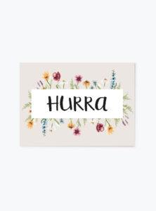 HURRA postkort A6